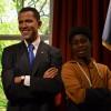 Barack Obama en Matthias, nu al beste maatjes.