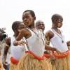 Ook de kinderen dansten mee.