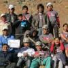 Een foto van enkele Boliviaanse deelnemers aan de klimschool. SMILE!!  :-)