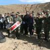 De plechtige opening van de klimschool. De fanfare van het leger speel het Boliviaanse volkslied