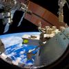 De aarde vanuit het Internationaal Ruimtestation ISS.