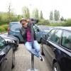 Tussen de auto's op de parking