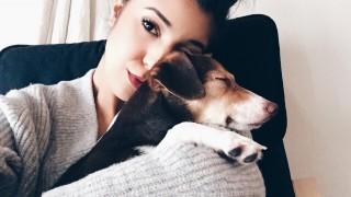Sarah en haar puppy