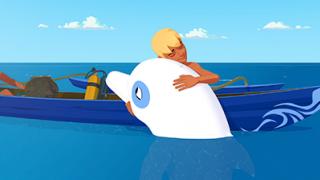 Zoom de witte dolfijn