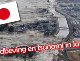 aardbeving en tsunami in Japan