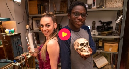 Camille en Francisco in de Escape Room