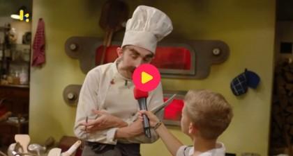 Luis op bezoek bij bakker Marcel